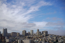 city skyline, cityscape, city view, skyscrapers, urban, day, light, clouds, evangelism, outreach, pray for the city