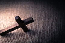 cross on fabric