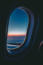 view out an airplane window