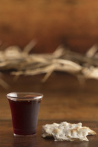 crown of thorns and communion elements