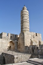The Walls around the Old City of Jerusalem with the 'Tower of David'