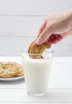dunking cookies in milk