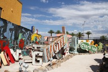 Abandoned neon signs from the Las Vegas strip