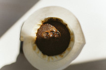 brewing coffee with a coffee filter