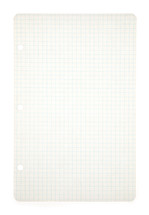Vintage Piece of Blank Paper on a White Background