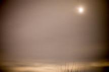 sun through a hazy sky