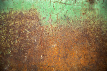 rusted green metal