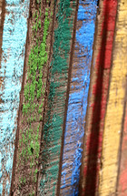 colored wood boards
