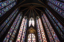 stained glass windows surrounding a dome