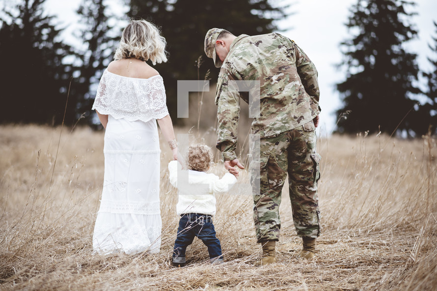 military family portrait