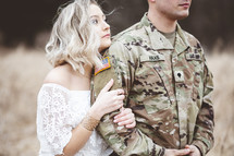 military couple portrait