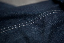 Double seam of denim jeans.