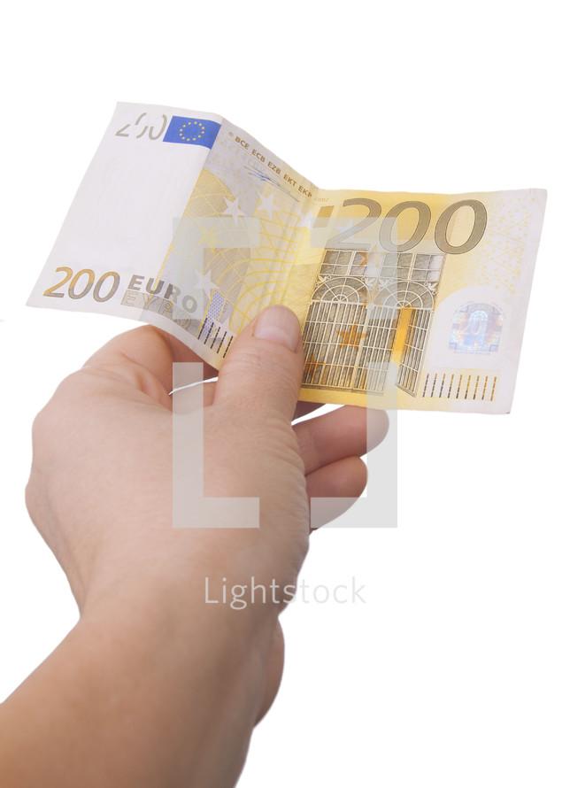 giving 200 euros
