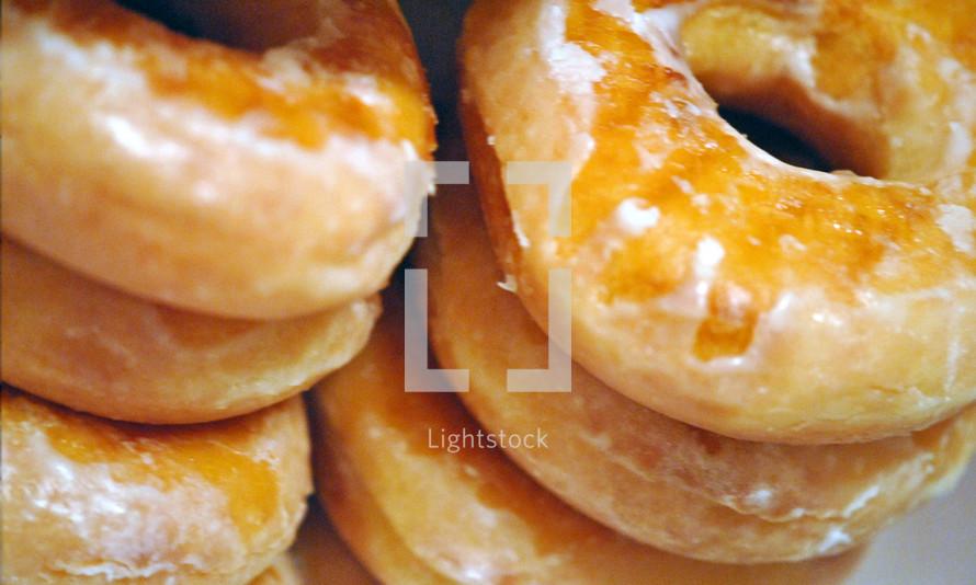 Glazed doughnuts, a sweet treat