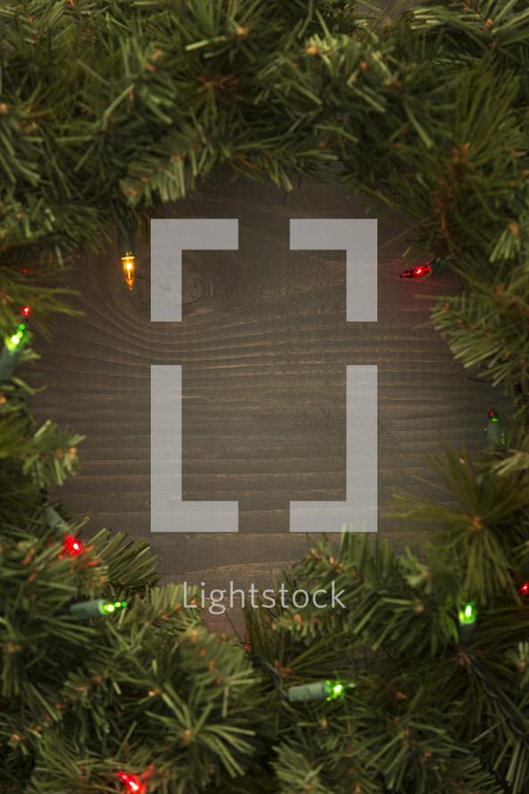 border Christmas wreath