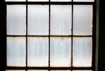 Chicken wire window.