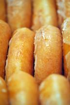 Glazed doughnuts, a sweet treat.