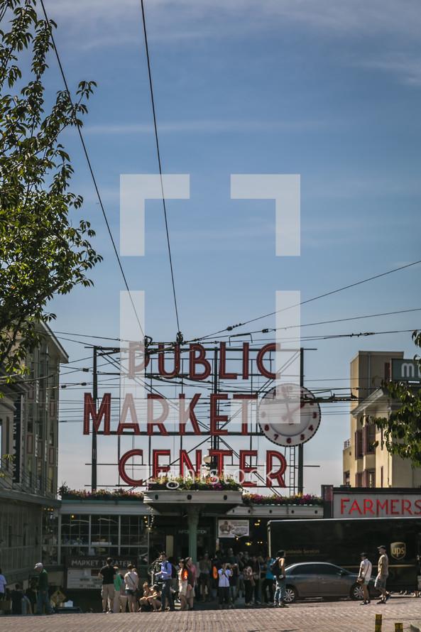 Public Market Sign in Seattle