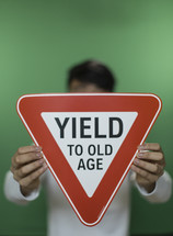 Yield to old age sign