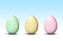 pastel religious Easter eggs