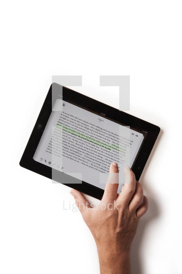 Bible on an iPad