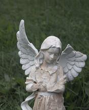 broken wing on an angel statue