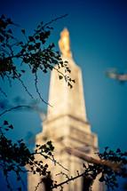 blurry steeple
