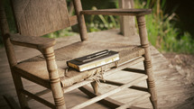 Bible on a rocking chair