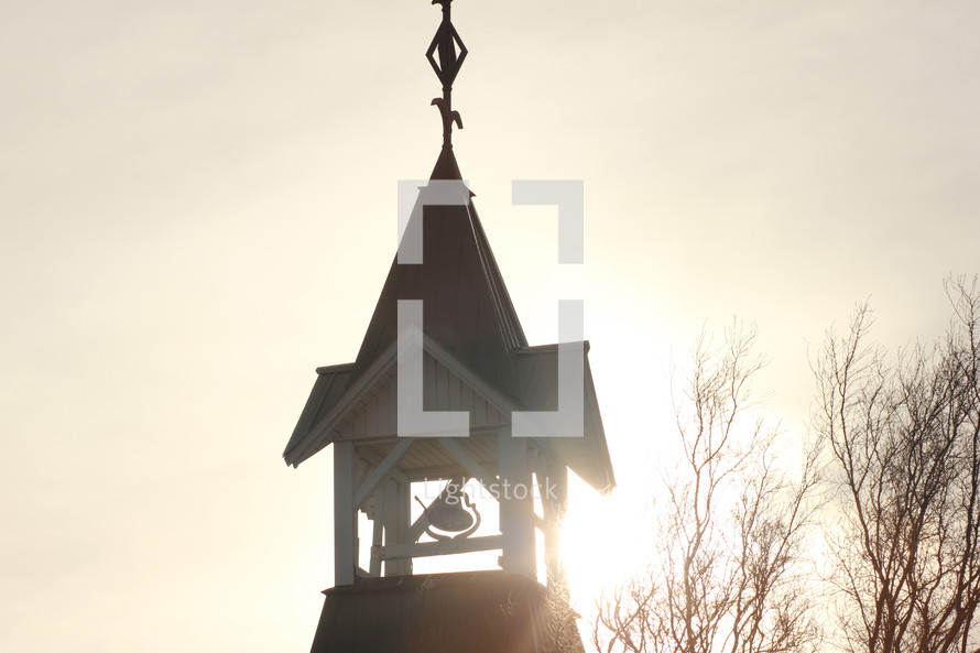 a bell in a steeple
