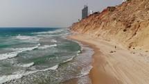 waves washing onto a beach