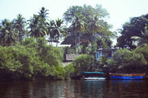 boats on a jungle river