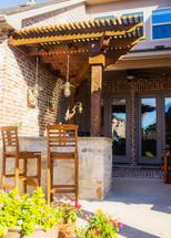 bar, backyard patio, and pergola