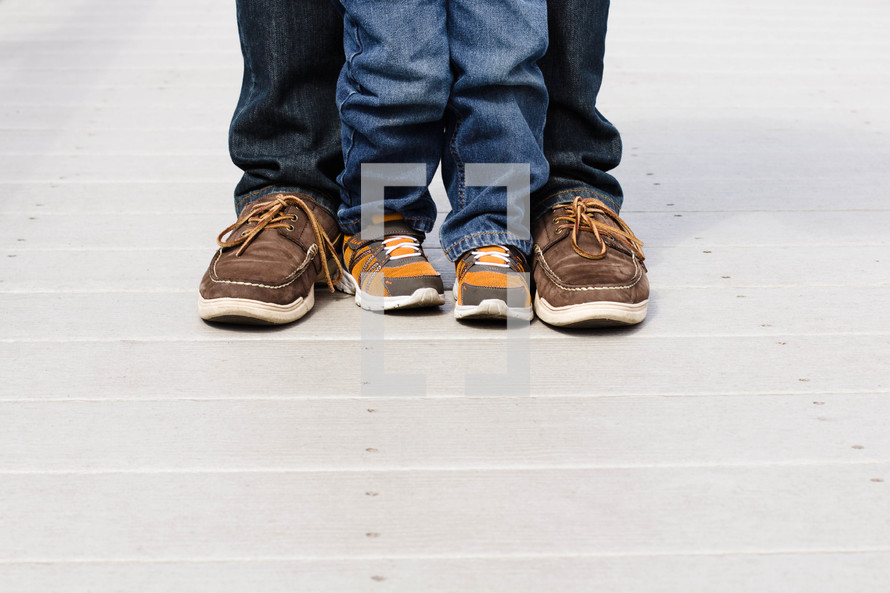 father and son feet