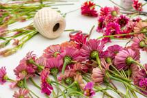creating flower arrangements