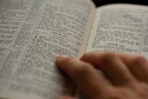 person reading scripture