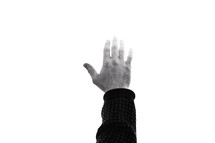 hand raised to God