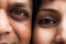 face of an Asian couple