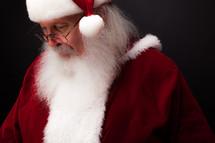 Santa looking down