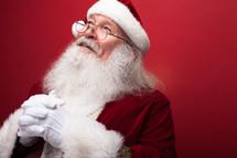 praying Santa Claus
