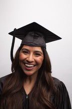 smiling female graduate
