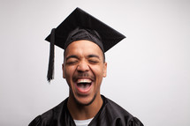 joyful and excited graduate