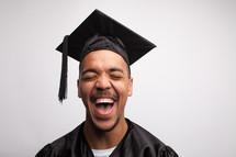 joyful and excited graduate