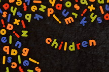 word children in refrigerator magnets