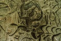 engravings in stone in Cambodia