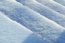 snow on steps