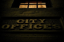 sign on building - city