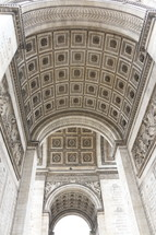 detailed stone arched ceiling