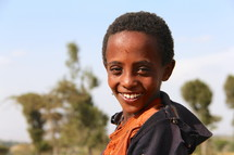 smiling boy child in Africa