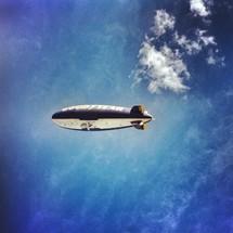 blimp in flight