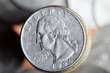 quarter closeup